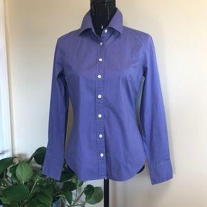 J. Crew lavender button down blouse